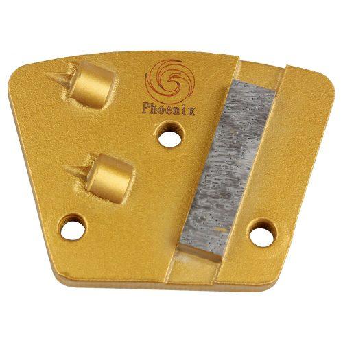 2 QUARTER ROUND PCD WITH SACRIFICIAL diamond segment