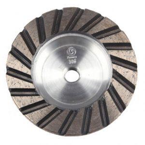 Aluminum base diamond cup wheel