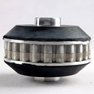 Aluminum snail lock backer up pad