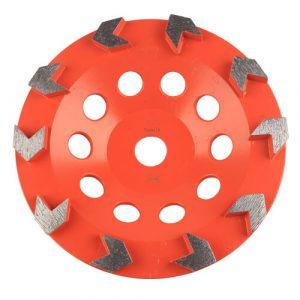 Arrow diamond grinding cup wheel for concrete