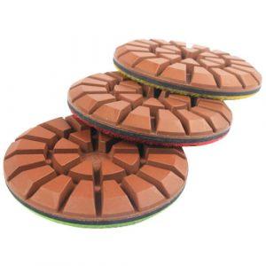 Conwet™ 3 inch Copper Diamond Bond Wet Polishing Pads for Concrete Floor