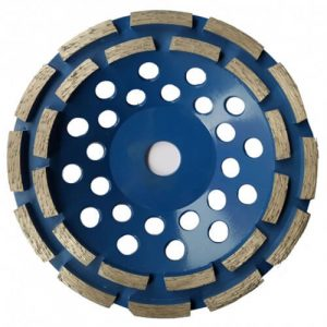 Double row diamond cup wheel