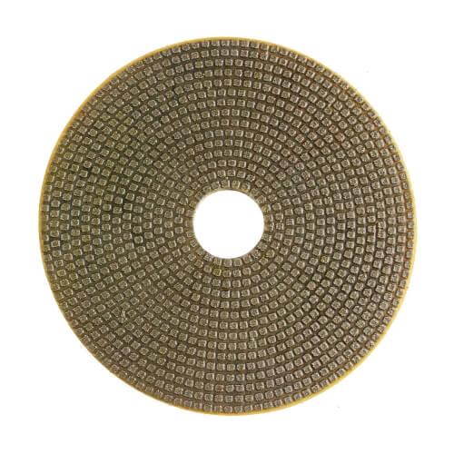 Electroplated flexible wet polishing pad