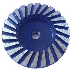 Heavy duty 4 inch turbo segment diamond cup grinding wheel
