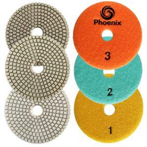 Raizi Phoenix 3 Step Dry wet Diamond Polishing Pad