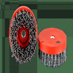 Round silicon carbide Antique Brush