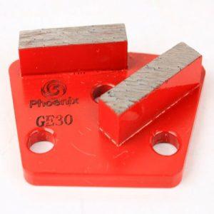 Trapezoid Diamond Grinding Scraper with 2 Segments
