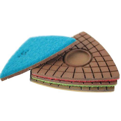 TriCorner ceramic polishing pads for concrete