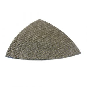 Triangle-Electroplated Flexible Wet Polishing pad