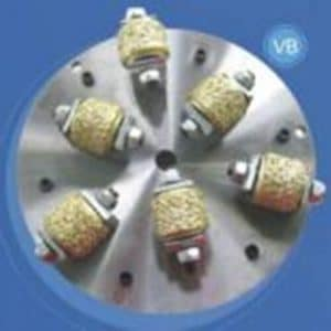 Vacuum brazed diamond bush Hammer plate