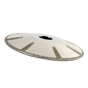 electroplated concave cutting blade